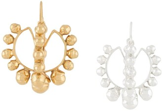 Patou Two-Tone Beaded Hoop Earrings