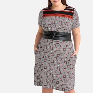 Castaluna Plus Size Tribal Print Shift Dress