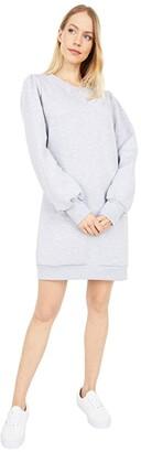 LAmade Just Landed Pullover Fleece Sweatshirt Tunic/Dress (Black) Women's Clothing