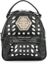 Philipp Plein embellished rhinestone mini backpack