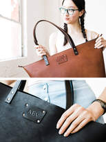 Etsy ADD Initials to TOTE Personalize tote leather bag Monogram Badge to your Leather Tote for only 10 d