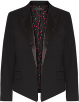 Equipment + Kate Moss Wynne satin-trimmed wool-twill blazer