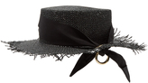 Federica Moretti Frayed-edge panama woven-paper hat