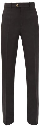 Gucci GG-button Tailored Silk-blend Cady Trousers - Black