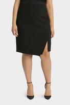 Essential Diagonal Split Pencil Skirt