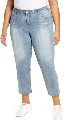 Wit & Wisdom High Waist Crop Skinny Jeans