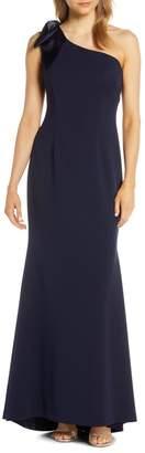 Brinker & Eliza One-Shoulder A-Line Gown (Regular & Petite)