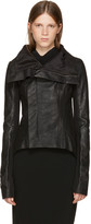 Rick Owens Black Leather Naska Biker Jacket