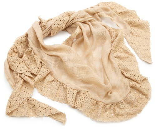 Collection XIIX collection eighteen Women's Lace Ruffle Triangle Scarf