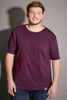 Yours Clothing BadRhino Purple T-Shirt With Chest Pocket