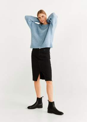 MANGO Chunky-knit sweater ecru - XS - Women