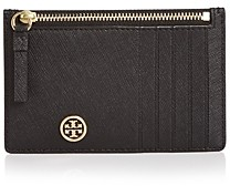 Tory Burch Robinson Zip Leather Slim Card Case