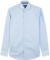 Hugo Boss Black Jery Blue Cotton Shirt