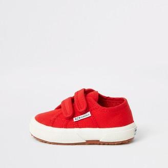 Superga River Island Mini boys Red velcro trainers