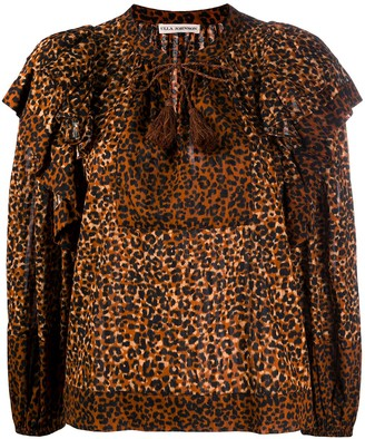 Ulla Johnson Carissa leopard-print blouse