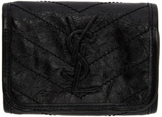 Saint Laurent Black Trifold Compact Niki Wallet