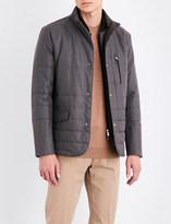 Corneliani Tonal-pattern technical quilted jacket