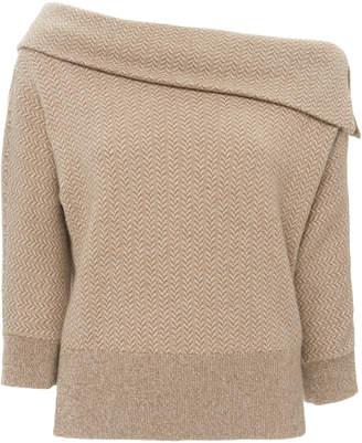 Ralph Lauren Dolman Cold-Shoulder Cashmere Sweater