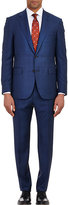 Barneys New York Men's Two-Button Lotus Suit-NAVY