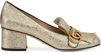 Gucci Gold Marmont 55mm pumps