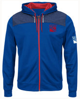Majestic Men's New York Rangers Hashmarks Full-Zip Hooded Jacket