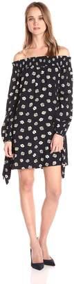 Blu Pepper Women's Floral Print Off Shoulder Top