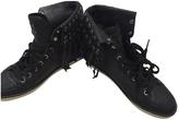 Balmain Black Leather Trainers