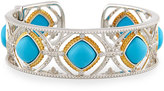 Jude Frances Cushion Turquoise & Diamond Cuff