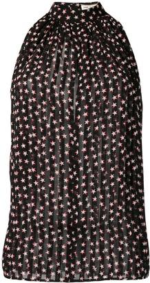 Saint Laurent sleeveless star print blouse