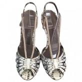 Salvatore Ferragamo Beige Water snake Sandals
