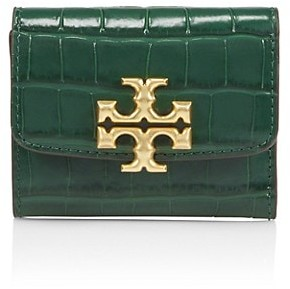 Tory Burch Eleanor Croc-Embossed Leather Wallet