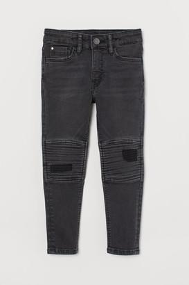 H&M Skinny Fit Biker Jeans - Black