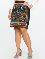 ELOQUII Plus Size Studio Embroidered Pencil Skirt