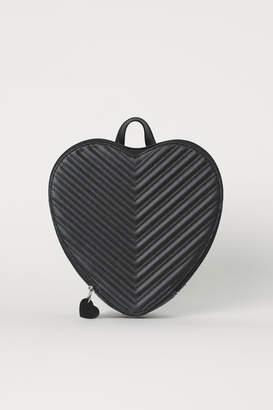 H&M Heart-shaped Backpack - Black