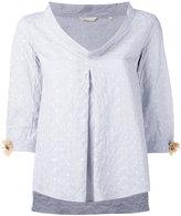 Xacus Shelia flower sleeve blouse - women - Cotton/Polyamide/Spandex/Elastane - 46