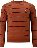Gant Cotton Wool Breton Jumper, Rust