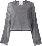 Lost & Found Rooms - distressed sweatshirt - women - Cotton - S