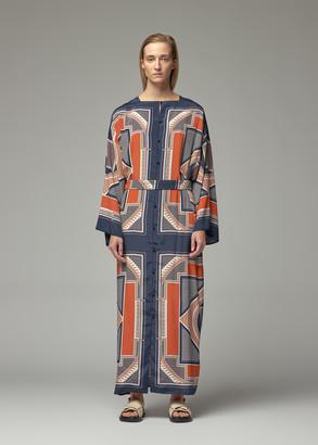 Rosetta Getty Women's Long Silk Kaftan Dress Size Small