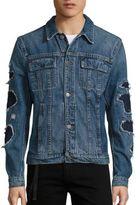 Helmut Lang Distressed Denim Cropped Jacket