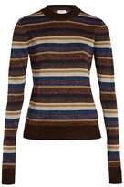 Saint Laurent Striped lurex sweater