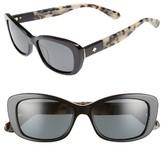 Kate Spade Women's Claretta 53Mm Polarized Sunglasses - Black Havana