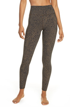 Alo Vapor Leopard Print High Waist Ankle Leggings