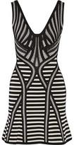 Herve Leger Milana Stretch Jacquard-Knit Mini Dress