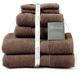 Jeff Banks Pure Cotton Supersoft Contemporary Towels, 6-Piece - Chocolate