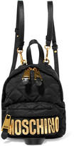 Moschino Leather-trimmed Quilted Shell Backpack - Black