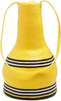 Rosie Assoulin Striped woven-straw jug shoulder bag
