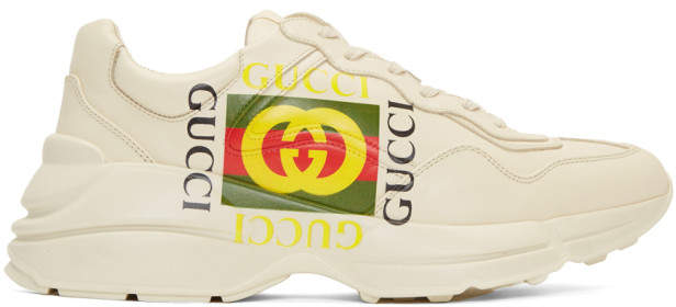 Gucci Off-White Cube Rhyton Sneakers