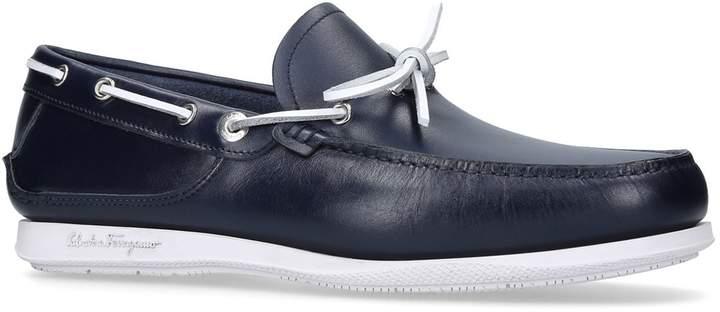 Salvatore Ferragamo Caraibi Boat Shoes