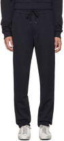 Dolce & Gabbana Navy Embroidered Crest Lounge Pants