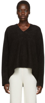 LAUREN MANOOGIAN Brown Split Sweater